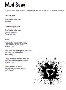 MUD SONG LYRICS