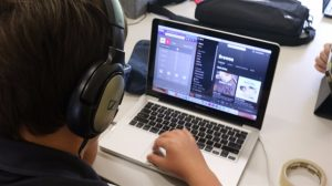 Middle School Student Working with Beats